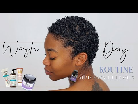 My Wash Day Routine + 4-Month Hair Growth Update  Natural Hair Journey  EP6