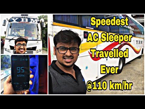 YBM Travels   Speedest  AC Sleeper Bus Ever   Bus Review   Madurai to Chennai   Tamil Vlog   22k