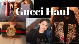 Gucci Haul - Bag | scarf | Watch | shoe | Indianblogger | Gucci favourites | Everythingkarthu