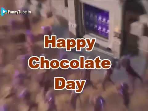 Happy Chocolate Day Very Funny Animated GIF