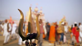 Closeup shot of a Trishul or Trident, the weapon of Hindu god Lord Shiva