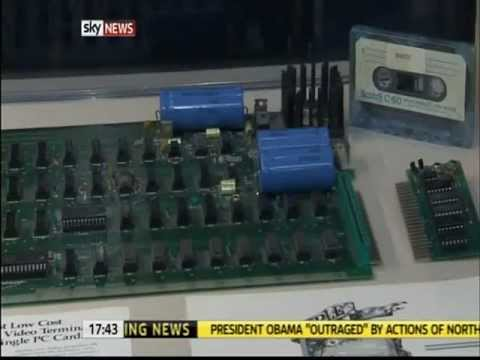 Rhiannon Mills - Apple computer auction - Sky News