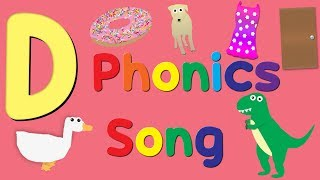 Letter D Phonics Song | Alphabet | English Learning Songs