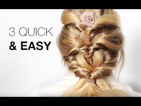 3 quick easy hairstyles with hair extensions youtube 3 quick easy hairstyles with hair extensions pmusecretfo Images