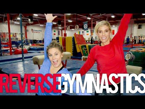 Reverse Gymnastics Challenge With Rebecca Zamolo + Shawn Johnson