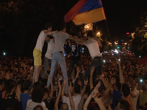 Բաղրամյան փողոց- բողոքի ակցիա Electric Yerevan 06. 2015