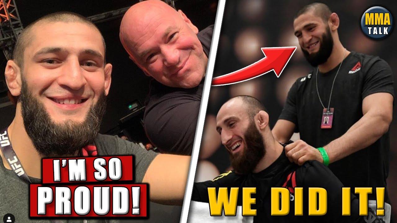 Khamzat Chimaev REACTS after his teammate wins UFC debut, Brian Ortega vs Korean Zombie results MyTu