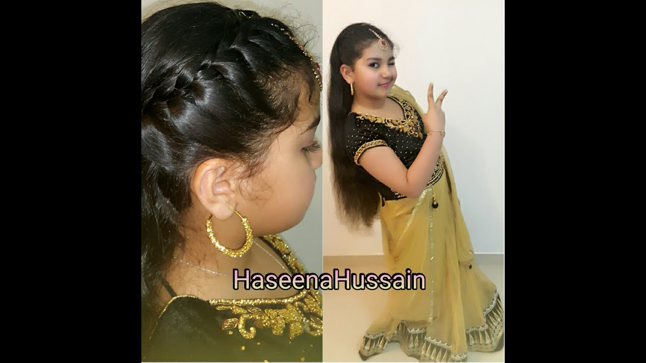 Kids Indian Wedding Guest Party Hairstyle Easy Quick Hairstyle 6
