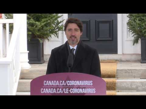 Prime Minister Justin Trudeau Addresses Canadians On The COVID19 Situation