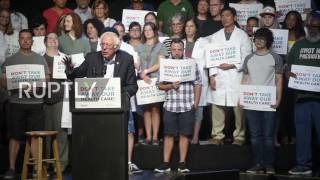 USA: Sanders rallies against Republican healthcare bill in Columbus thumbnail
