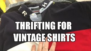 Thrifting for Vintage Shirts - Tommy Hilfiger - Drywall repair on the Rental House