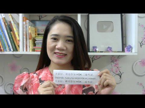 Luyện nghe và nói tiếng Trung trình độ HSK2 Buổi 5