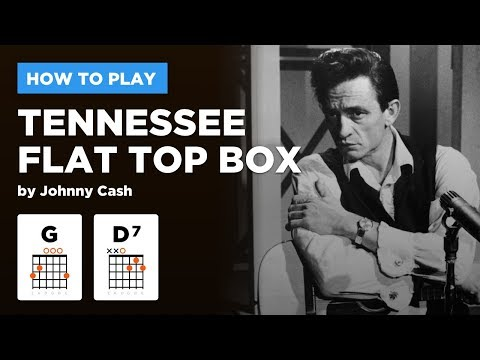 🎸 Tennessee Flat Top Box • Johnny Cash guitar lesson w/ intro riff tabs & chords