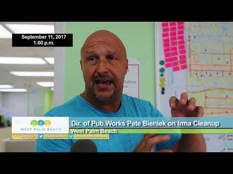 WPB Director of Public Works Pete Bieniek on Hurricane Irma Cleanup