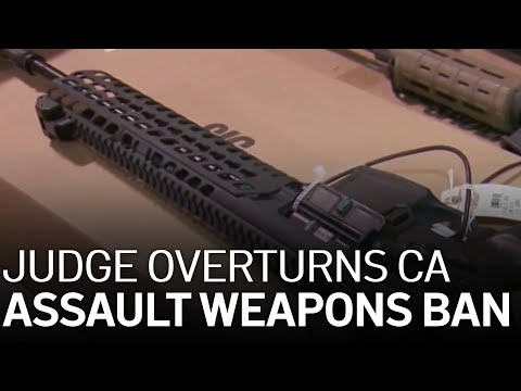 Federal Judge Overturns California's Ban on Assault Weapons