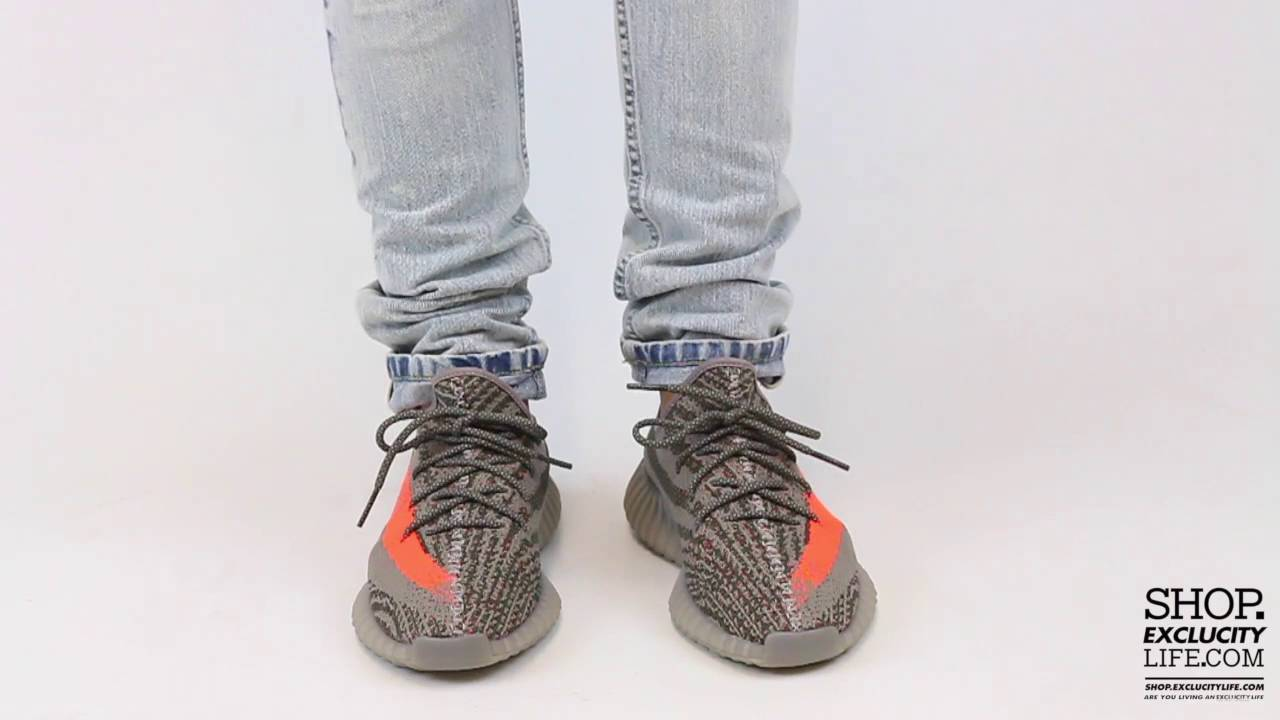 7336762dfa2 Adidas Yeezy 350 Boost V2 Beluga Solar Red On feet Video at Exclucity