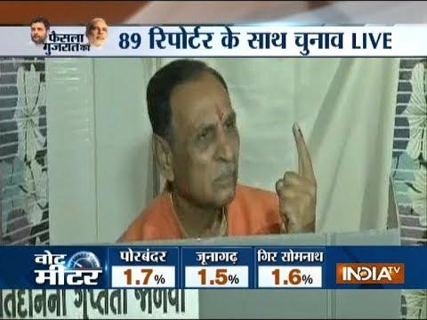 Gujarat Elections 2017: CM Vijay Rupani casts his vote in Rajkot