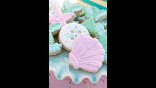 Seashell Decorated Cookie Tutorial