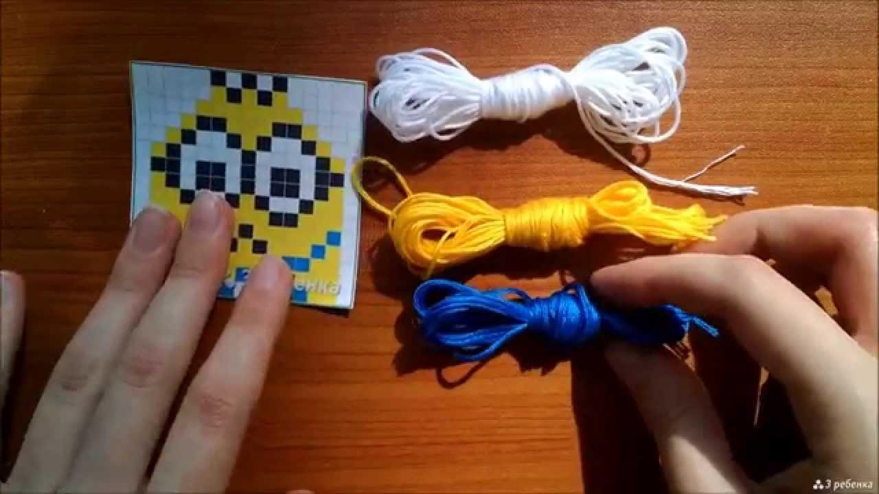 Схемы с цветами прямое плетение