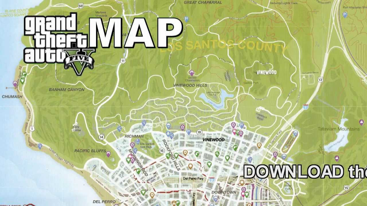 GTA 5 FULL SIZE GAME MAP - YouTube