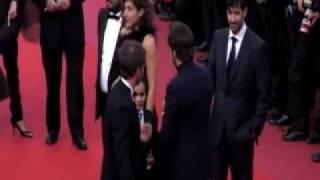 Alain Delon y Claudia Cardinale en Cannes 2010