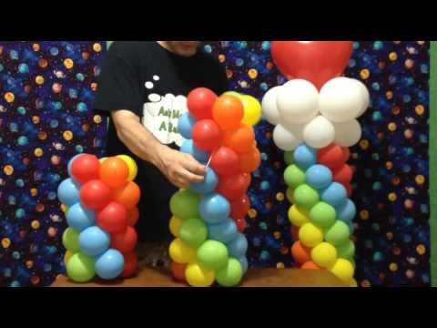 Hướng dẫn tạo hình trụ bong bóng cầu vồng tuyệt đẹp