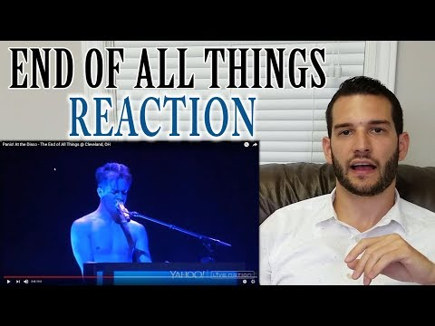 SINGING TEACHER reaction to BRENDON URIE singing The End of All Things LIVE