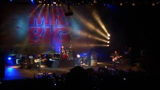 """Mr. Big performing the song """"Undertow"""" live in São Paulo on August ..."""