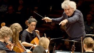 In rehearsal: Simon Rattle conducts 6 Berlin school orchestras thumbnail