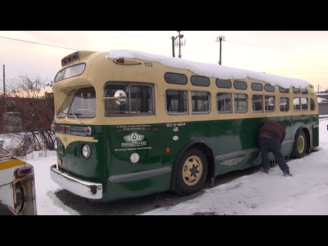 best 2017 Diesel Cold start compilation of vintage trucks and buses Flxible Volvo and GM