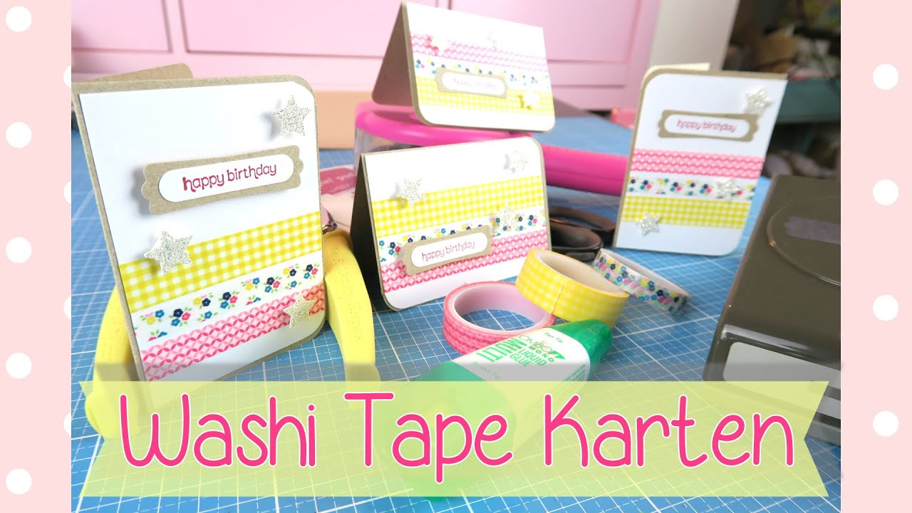 craft room tutorial washi tape karten masking tape cards youtube. Black Bedroom Furniture Sets. Home Design Ideas