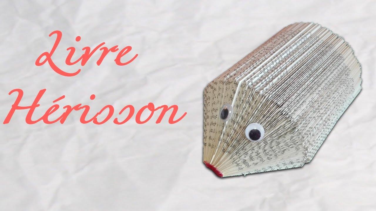 Origami Livre Herisson Pliage De Livre
