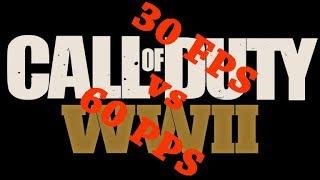 COD WWII in 30 FPS vs 60 FPS