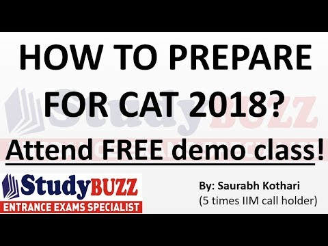 How to prepare for CAT 2018? Attend FREE demo class!