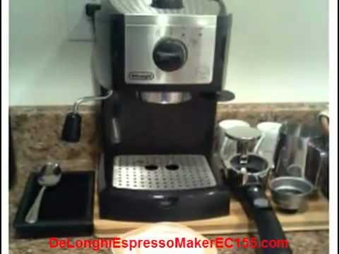 Delonghi Coffee Maker Stopped Working : Delonghi Espresso Maker EC155 - YouTube