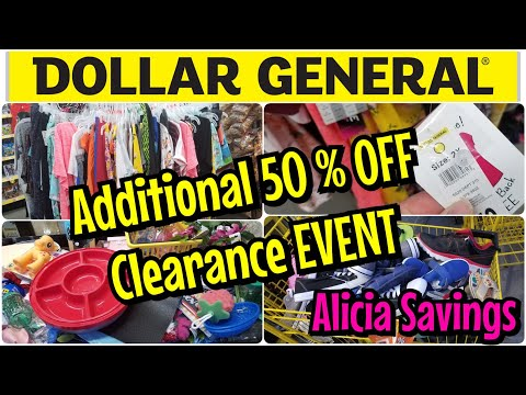 HUGE ADDITIONAL 50% OFF CLEARANCE EVENT !! 9/25 - 9/27 At Dollar General !!