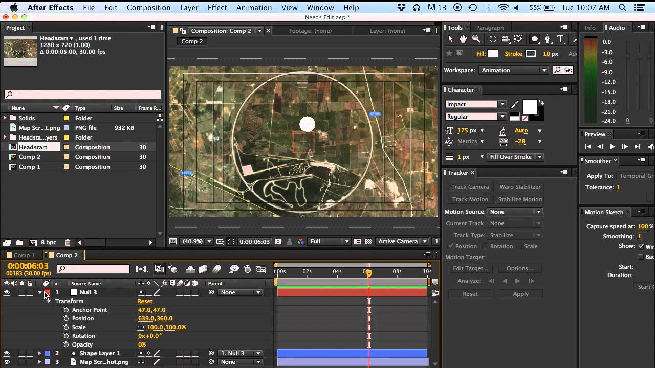 Object Moved: After Effects: Make Object Move In A Circle