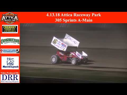 4.13.18 Attica Raceway Park 305 Sprints A-Main