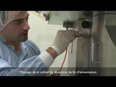 Fonctionnement d'une presse à comprimer rotative industrielle