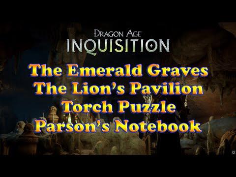 Dragon Age: Inquisition - Lion's Pavilion Torch Puzzle - Parson's Battered Notebook