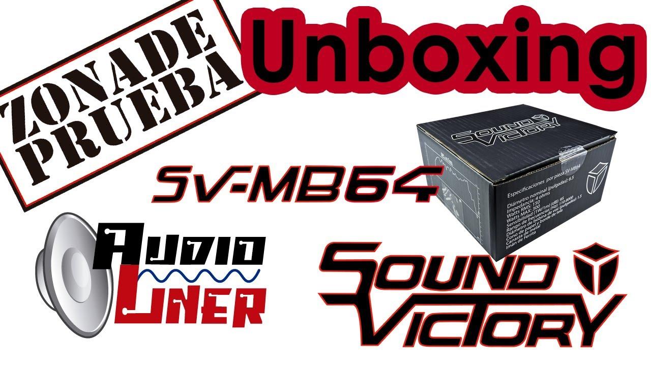 UNBOXING  SOUND VICTORY SV-MB64 ENTRANDO CON TODO EN EL MERCADO CAR AUDIO (MEDIO BAJO)