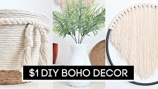 DIY Room Decor! $1 Dollar Tree DIY Boho Decor *Anthropologie Inspired*