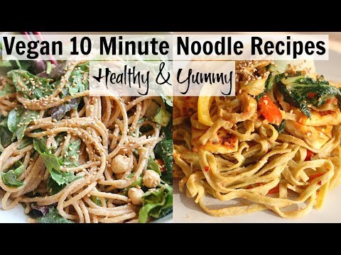 Easy 10 Minute Vegan NOODLE Recipes