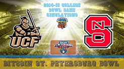 Bitcoin St. Petersburg Bowl Sim - NC State vs UCF (NCAA Football 14 - Xbox 360)