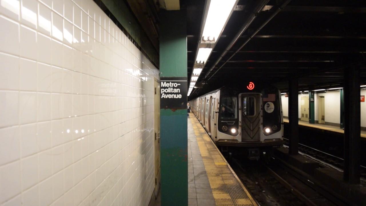 Coney Island-Stillwell Avenue-bound R160A-2/B (G) train at ...