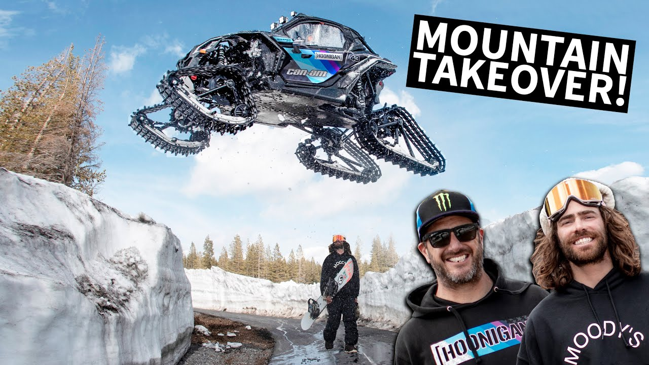 Ken Block Shreds A Mountain In His Can-Am On Tracks