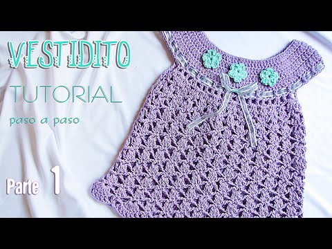 9e4475651 Aprende a tejer un vestido para bebé paso a paso (1 de 2) | Tutorial  Liliana Milka