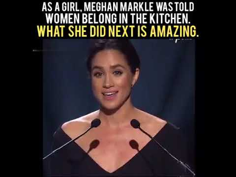 2c1441569 As a girl Meghan markle was told women belong in the kitchen - what she did  next is amazing.