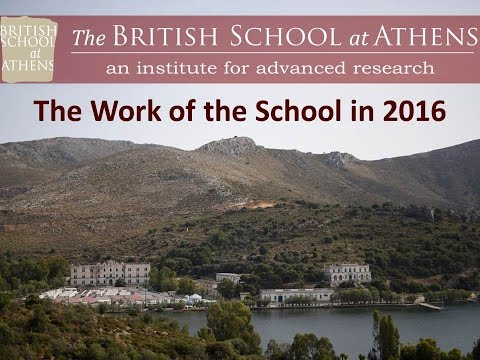 Prof. J. Bennet 'The Work of the British School at Athens in 2016'