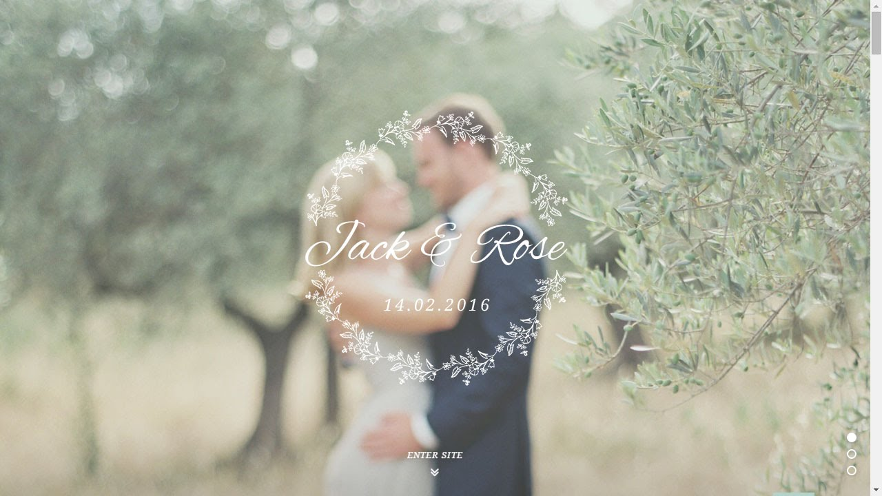 Jack rose how to create wedding home page youtube junglespirit Images
